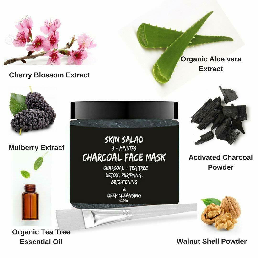 SkinSalad Activated Charcoal Face Mask - 100gm