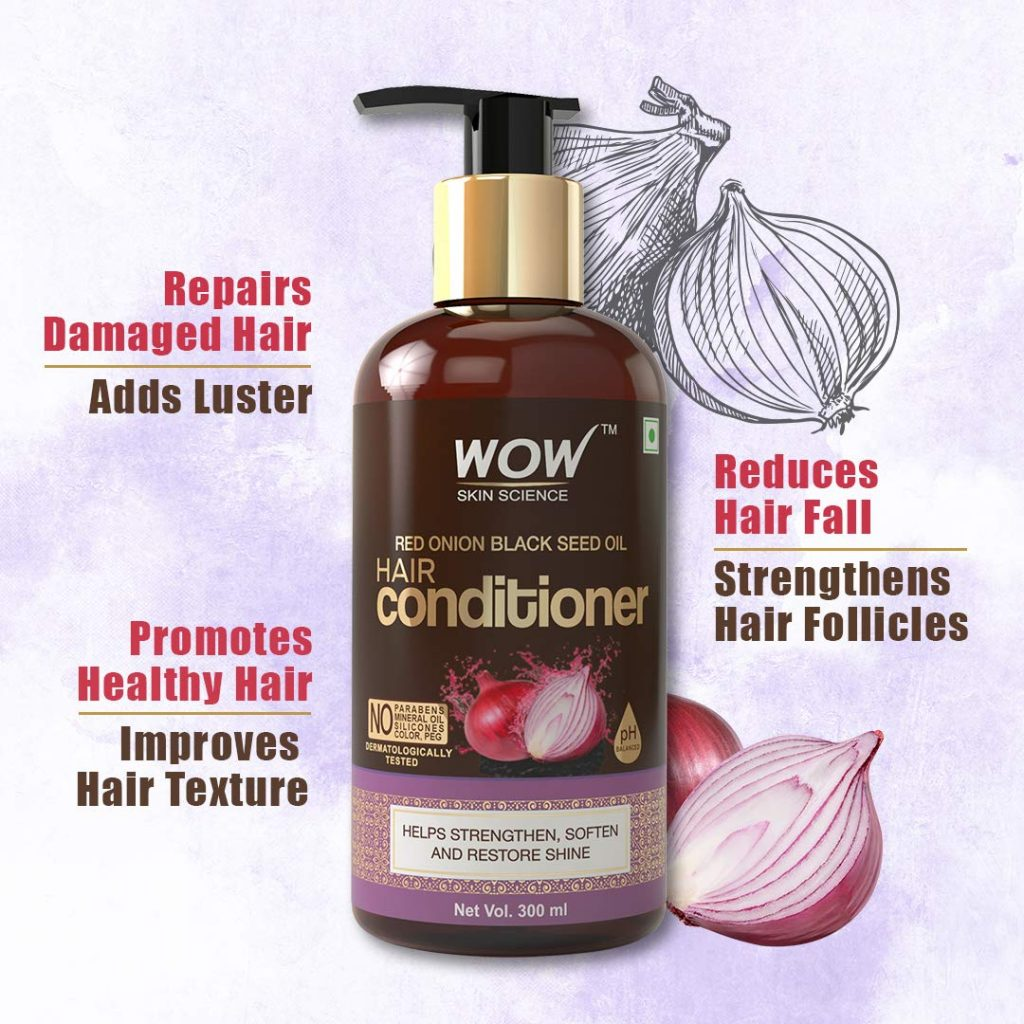 WOW Skin Science Red Onion Black Seed Oil Hair Conditioner ...